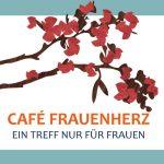 Grafik mit einem roten Blumenzweig für das Café Frauenherz.