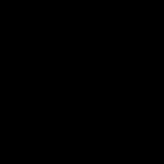 Grafik mit schwarzen herumfliegenden Pusteblumen.